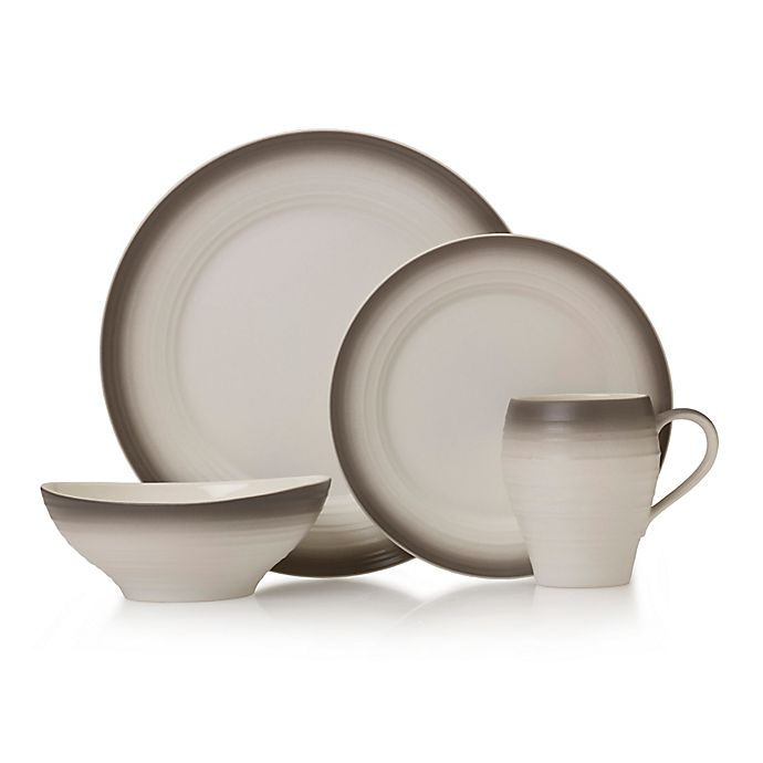 Alternate image 1 for Mikasa® Swirl Ombre Dinnerware Collection in Mocha