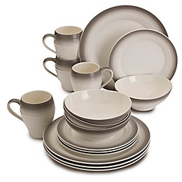 Mikasa® Swirl Ombre 16-Piece Dinnerware Set in Mocha