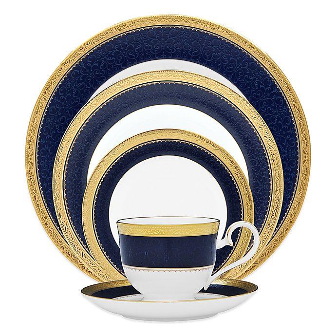 Alternate image 1 for Noritake® Odessa Cobalt Dinnerware Collection in Gold
