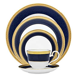Noritake® Odessa Cobalt Dinnerware Collection in Gold