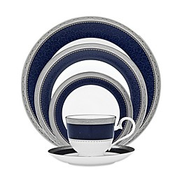 Noritake® Odessa Cobalt Dinnerware Collection in Platinum