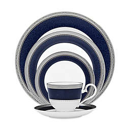 Noritake® Odessa Cobalt Dinnerware Collection in Platinum
