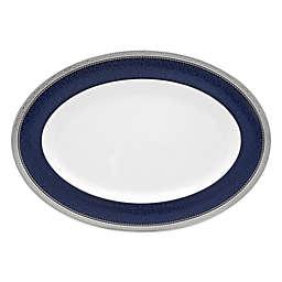 Noritake® Odessa Cobalt 16-Inch Oval Platter in Platinum