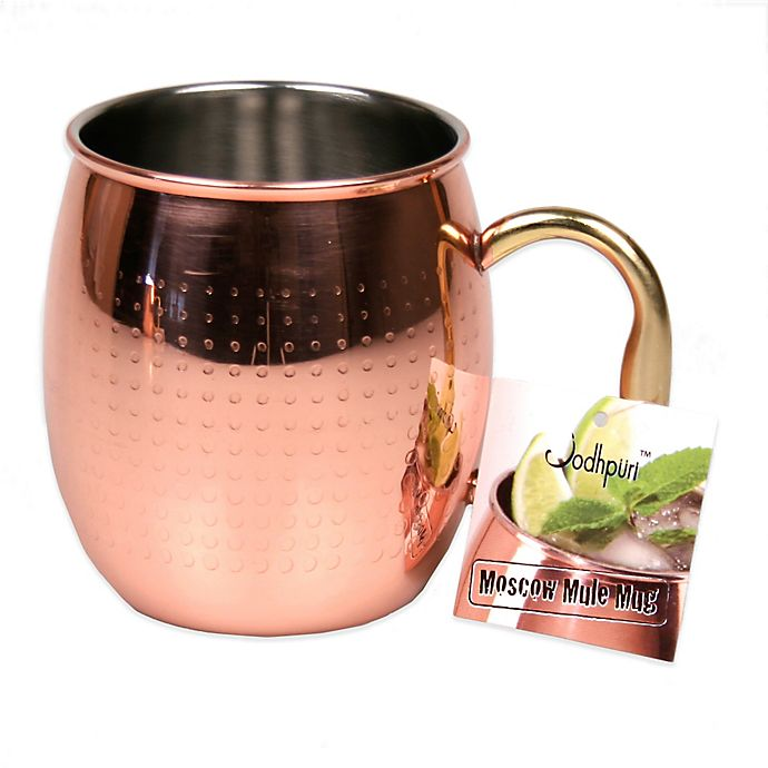 Alternate image 1 for Jodhpuri™ Moscow Mule Etched Dot Mug in Coppertone Stainless Steel