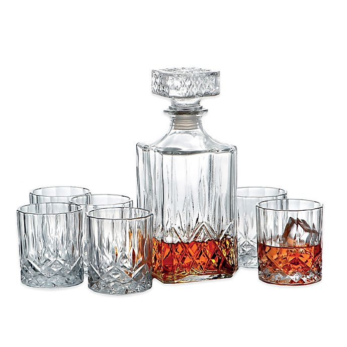 Alternate image 1 for Denmark 7-Piece Whiskey Decanter Set