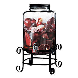 Main Street Crystal 3-Gallon Beverage Dispenser in Clear with Decorative Stand