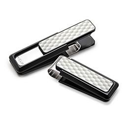 M-Clip® Black Anodized and White Golf Ball Money Clip