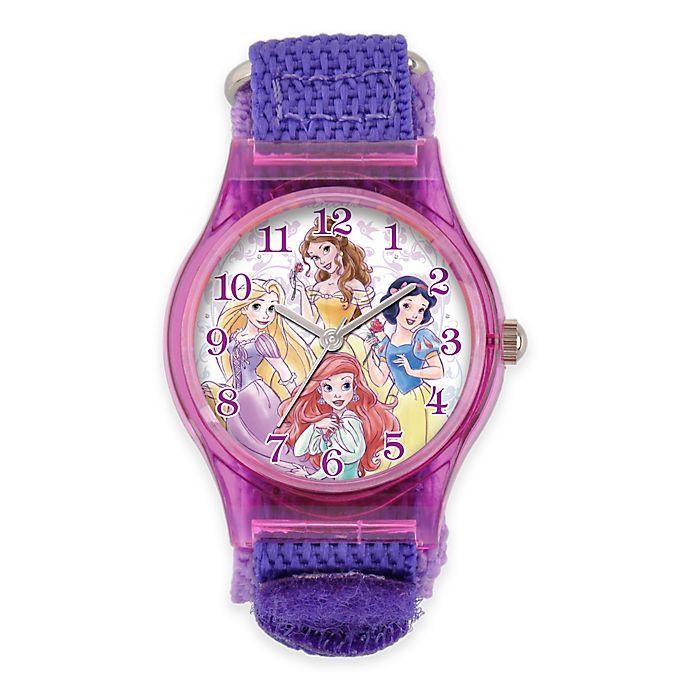 Alternate image 1 for Disney® Princess Children's 33mm Watch with Purple Nylon Strap