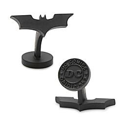 DC Comics™ Batman Dark Knight Satin Black Logo Cufflinks
