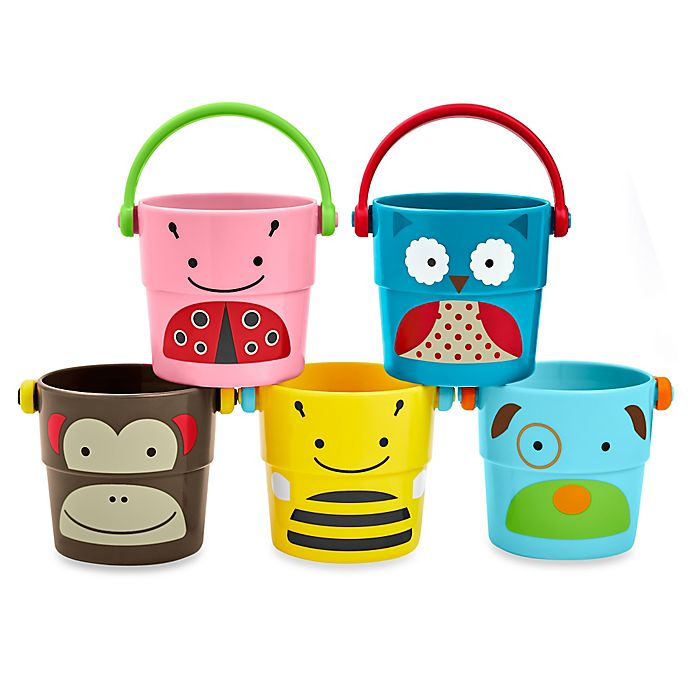 Alternate image 1 for SKIP*HOP® 5-Piece Zoo Stack and Pour Buckets