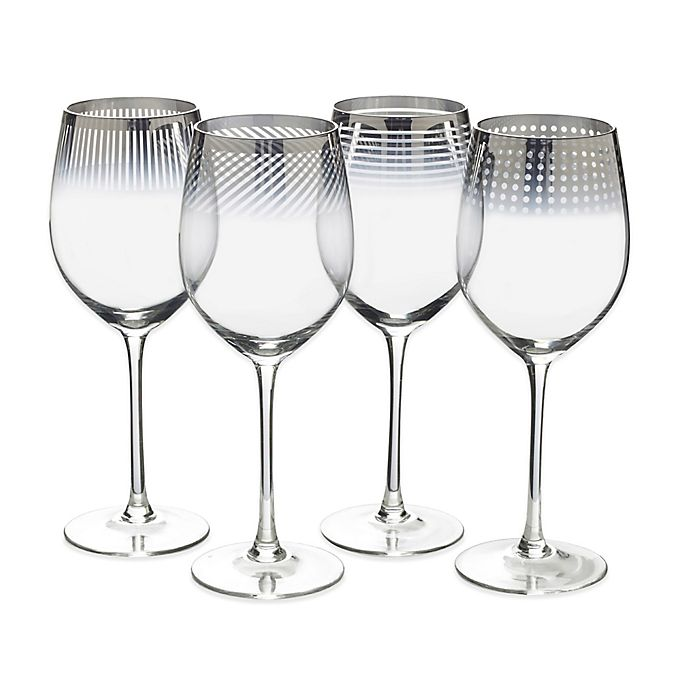 Alternate image 1 for Mikasa® Cheers Metallic Ombre Red Wine Glasses (Set of 4)