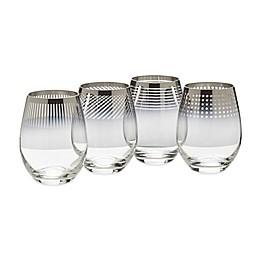 Mikasa® Cheers Metallic Ombre Stemless Wine Glasses (Set of 4)