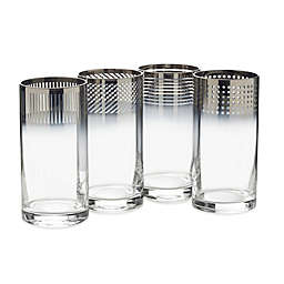 Mikasa® Cheers Metallic Ombre Highball Glasses (Set of 4)
