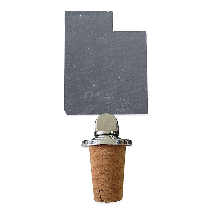 Alternate image 1 for Top Shelf Living Slate Utah Wine Stopper