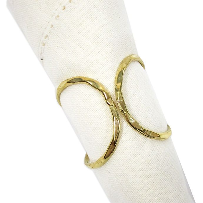 Alternate image 1 for Brass Squiggle Napkin Ring