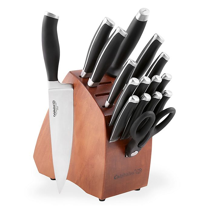 Alternate image 1 for Calphalon® Contemporary 17-Piece Knife Block Set