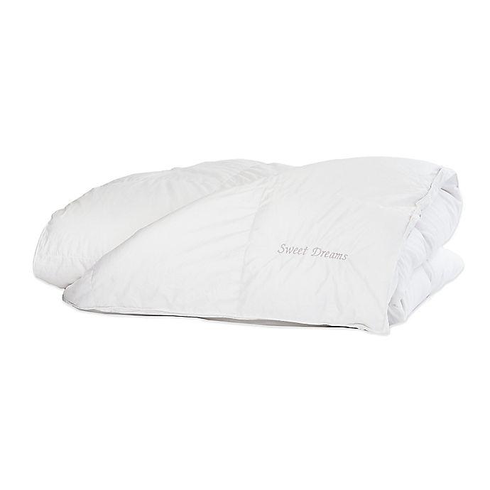Alternate image 1 for The Pillow Bar® Sweet Dreams Embroidered 700 Down Duvet Insert in White