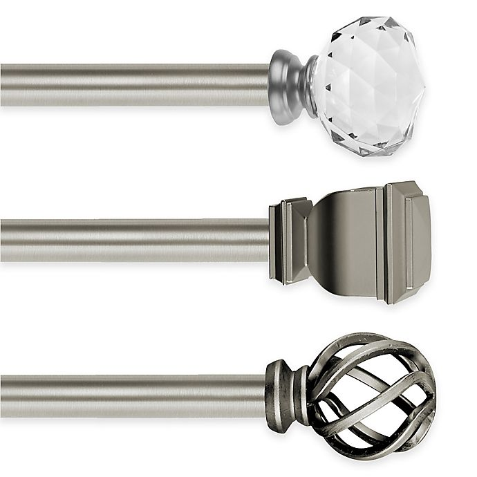 Alternate image 1 for Cambria® Elite Complete Decorative Window Hardware in Brushed Nickel