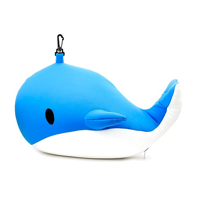Alternate image 1 for Kikkerland® Zip & Flip Whale Travel Pillow