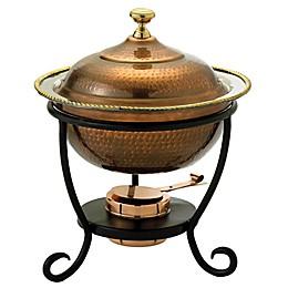 Old Dutch International 3 qt. Round Chafing Dish in Antique Copper