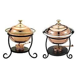 Old Dutch International Round Chafing Dish in Copper