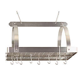 Old Dutch International Steel 30-Inch Pot Rack in Satin Nickel
