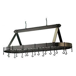 Old Dutch International 24-Hook Oversized Hanging Pot Rack in Oiled Bronze