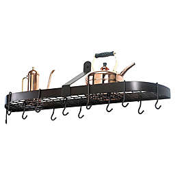 Old Dutch International Wall-Mount 12-Hook Pot Rack in Oiled Bronze