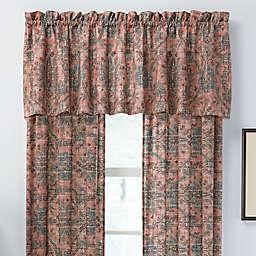 Jacobean Window Curtain Panel Pair and Valance