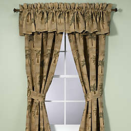 Palm Grove Window Curtain Panels And Valance