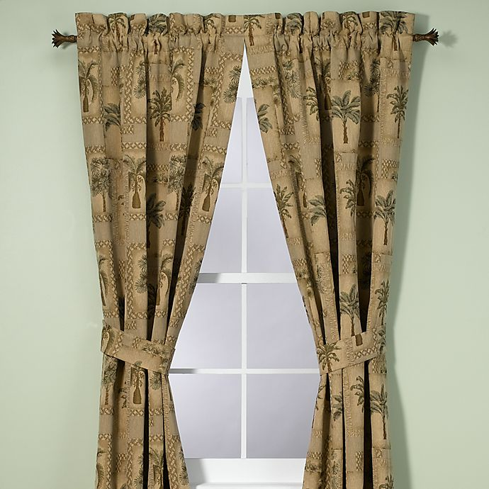 Alternate image 1 for Palm Grove 84-Inch Window Curtain Panel Pair