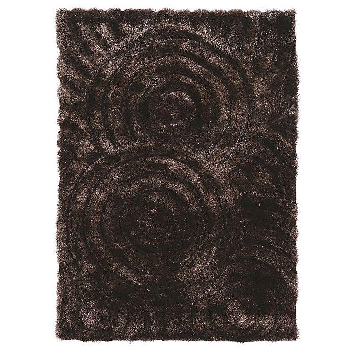 Alternate image 1 for Linon Home Links Circles Shag Rug