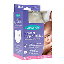 Lansinoh® 2-Pack 24mm Silicone Contact Nipple Shields
