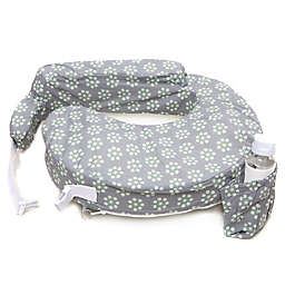 My Brest Friend® Original Nursing Pillow in Grey with Sage Dotted Daisies