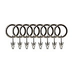 Umbra Rib Ball Clip Rings in Pewter (Set of 7)