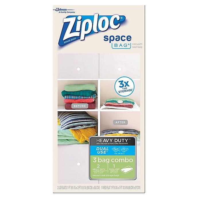 Alternate image 1 for Ziploc® Space Bag® 3 Bag Heavy Duty Combo Set