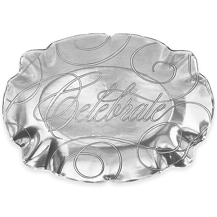 Alternate image 1 for Wendell August Celebrate Small Baroque Oval Tray