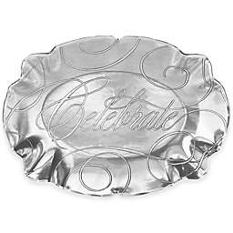 Wendell August Celebrate Small Baroque Oval Tray