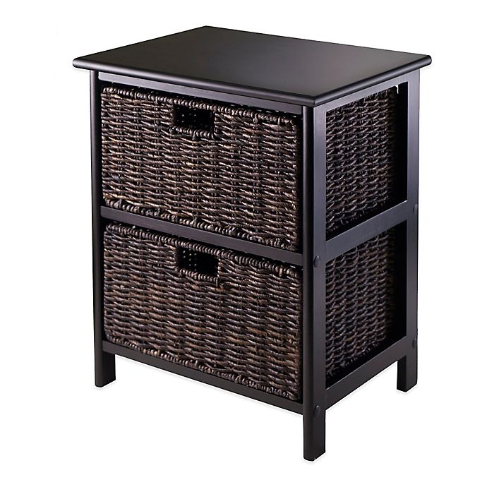 Alternate image 1 for Winsome Trading Omaha Storage Rack with 2 Baskets in Black/Chocolate