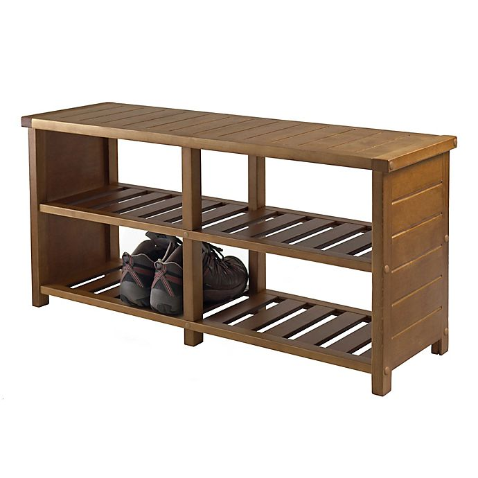 Winsome Trading Keystone Shoe Storage Bench | Bed Bath & Beyond