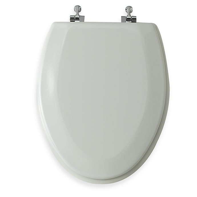 Enjoyable Mayfair Round Bone Molded Wood Toilet Seat With Easy Clean Change Chrome Hinge Ibusinesslaw Wood Chair Design Ideas Ibusinesslaworg