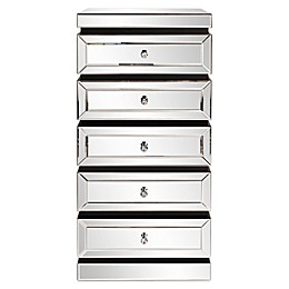Howard Elliott® 5-Tier Mirrored Tower with Drawers