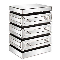 Howard Elliott® 3-Tier Mirrored End Table with Drawers