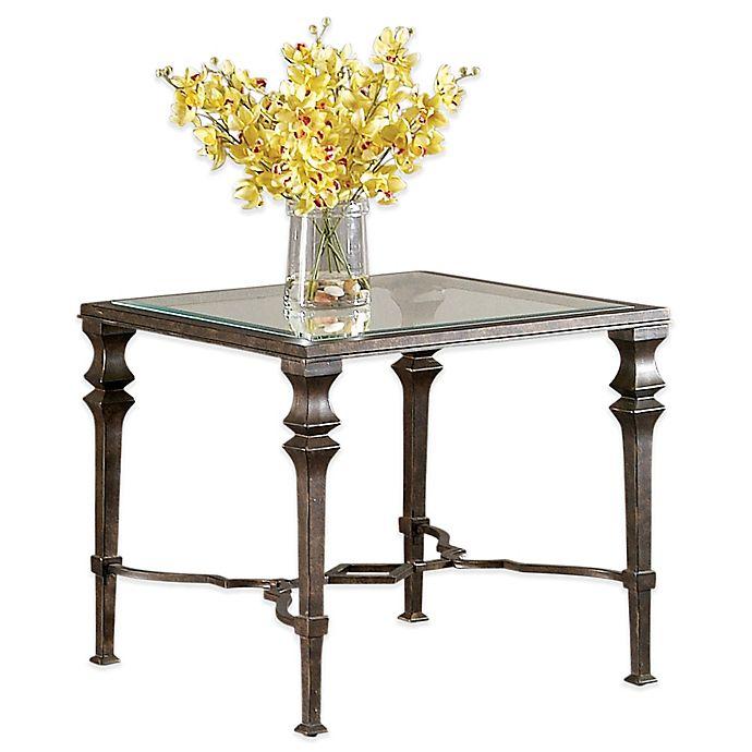 Bassett Tables: Bassett Mirror Company Lido Square End Table In Bronze