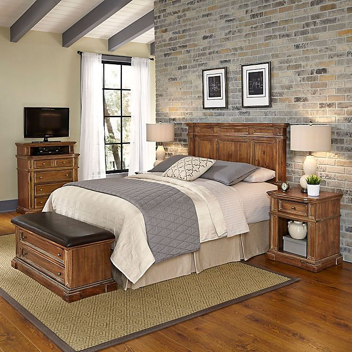 Home Styles Americana Vintage 5-Piece Headboard and Bedroom ...