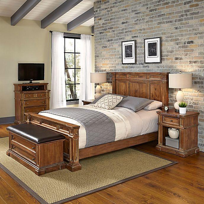 home styles americana vintage 5-piece bedroom set in