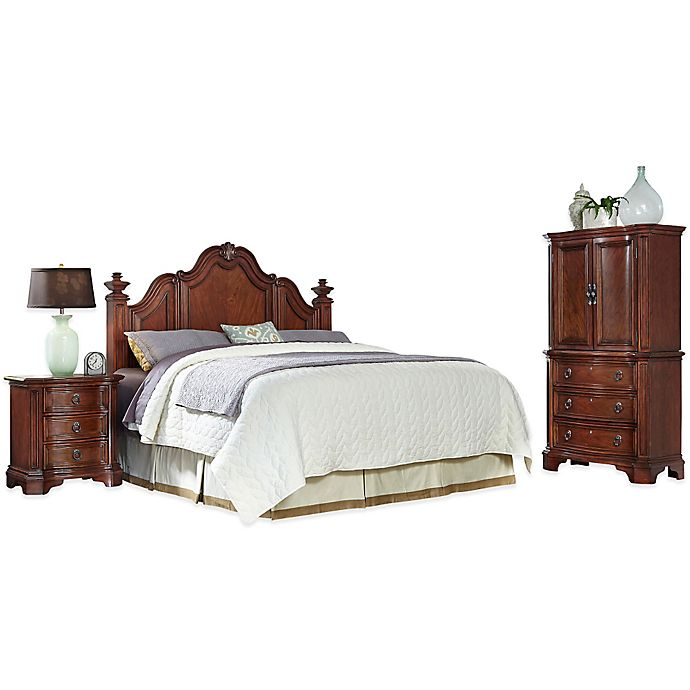 Alternate image 1 for Home Styles Santiago 3-Piece King/California King Headboard, Nightstand and Door Chest Set