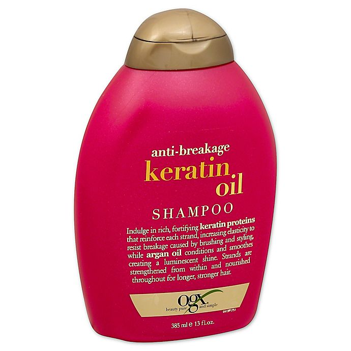 Alternate image 1 for OGX® 13 fl. oz. Anti-Breakage Keratin Oil Shampoo