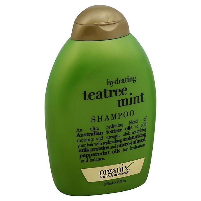 Alternate image 1 for OGX® 13 fl. oz. Teatree Mint Hydrating Shampoo