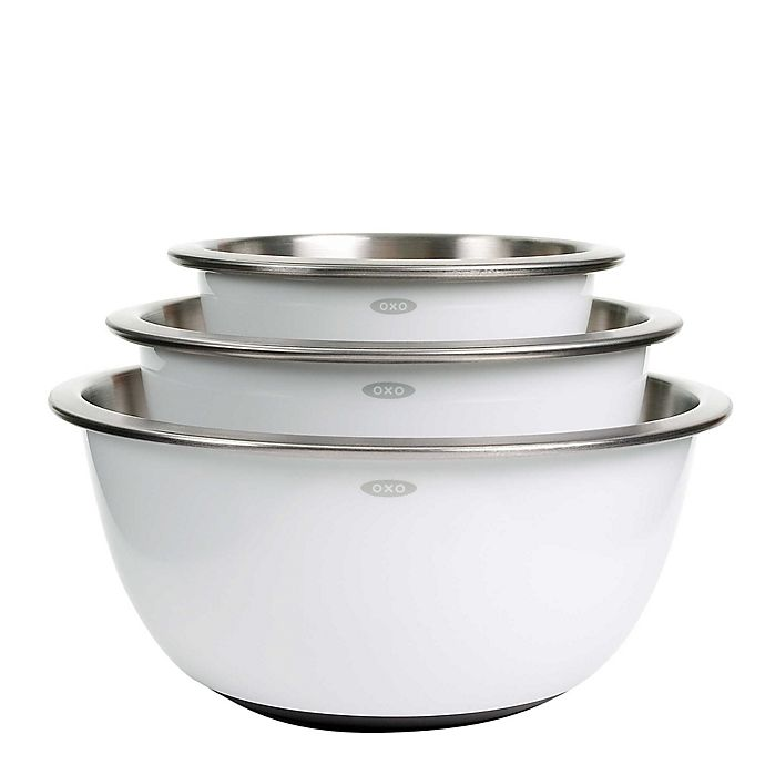 Alternate image 1 for OXO Good Grips® 3-Piece Stainless Steel Mixing Bowl Set